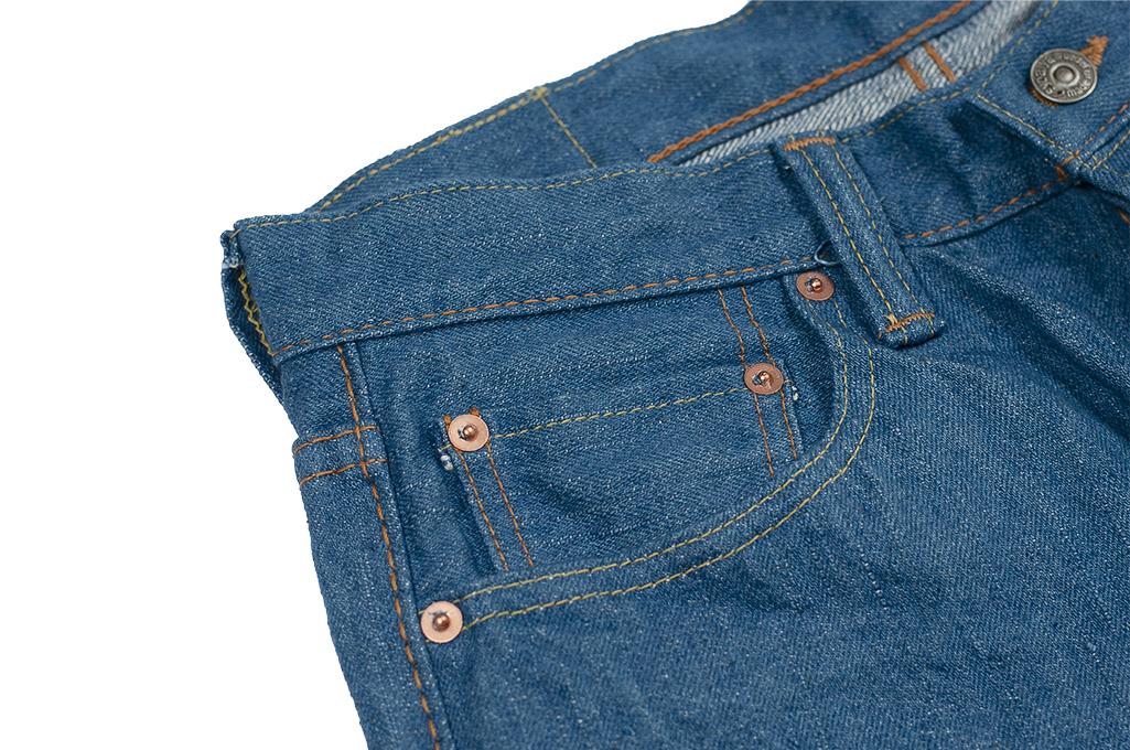 Pure Blue Japan BG-019 Blue Gray Denim Jeans - Straight Tapered - Image 10