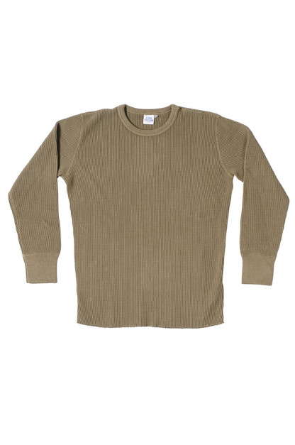 Studio D'Artisan Heavy Long Sleeve Thermal Shirt - Khaki
