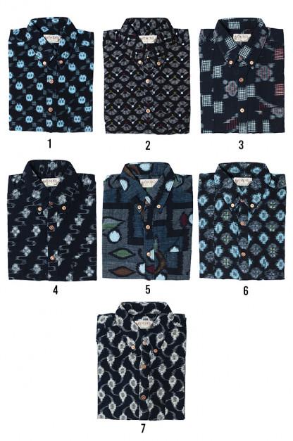 Studio D'Artisan Kimono-Kasuri Indigo Dyed Shirt