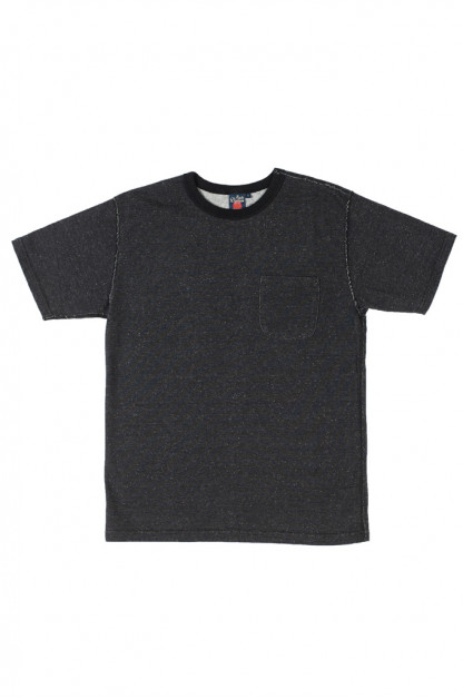 Studio D'Artisan Loopwheeled T-Shirt - Black Outer / Natural Inner