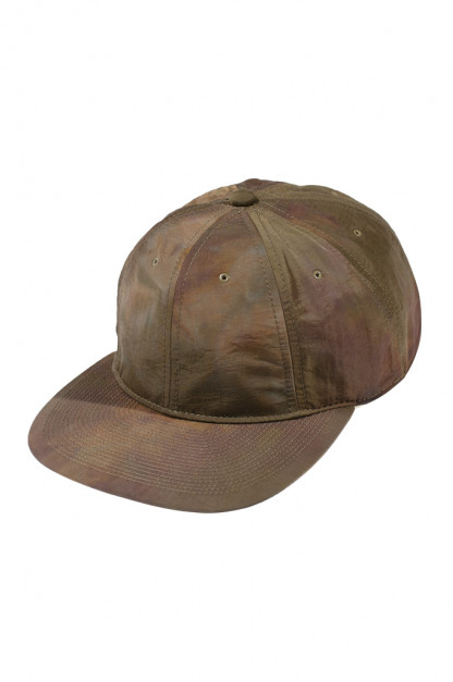 Poten Japanese Made Cap - Olive Watercolor Camo Nylon