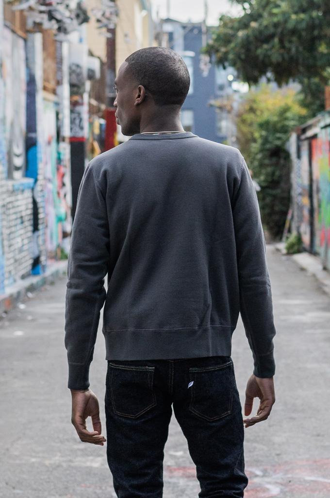 Buzz Rickson Flatlock Seam Crewneck Sweater - Black - Image 3