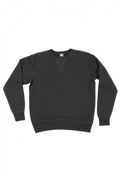 Buzz Rickson Flatlock Seam Crewneck Sweater - Black