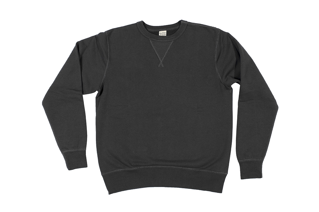 Buzz Rickson Flatlock Seam Crewneck Sweater - Black - Image 5