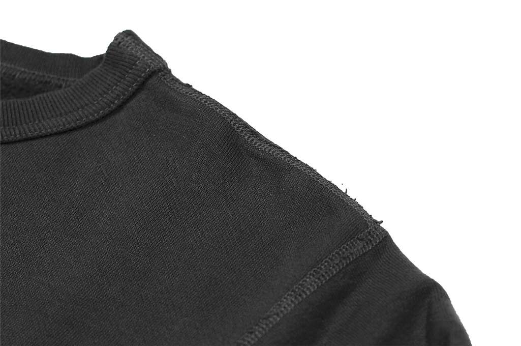 Buzz Rickson Flatlock Seam Crewneck Sweater - Black - Image 7
