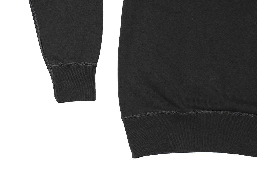 Buzz Rickson Flatlock Seam Crewneck Sweater - Black - Image 9