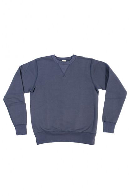 Buzz Rickson Flatlock Seam Crewneck Sweater - Navy