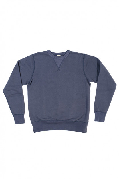 Buzz Rickson Flatlock Seam Crewneck Sweater - Navy