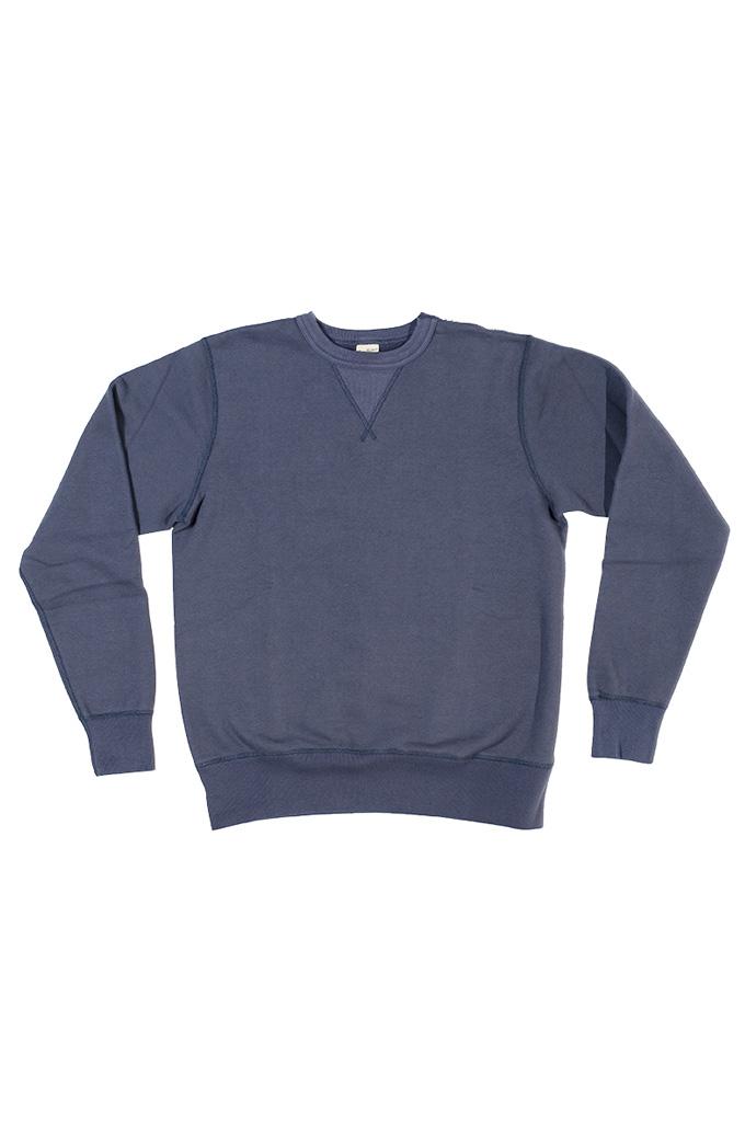 Buzz Rickson Flatlock Seam Crewneck Sweater - Navy - Image 4