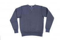 Buzz Rickson Flatlock Seam Crewneck Sweater - Navy - Image 5