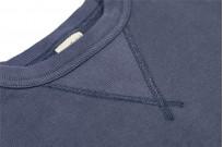 Buzz Rickson Flatlock Seam Crewneck Sweater - Navy - Image 6