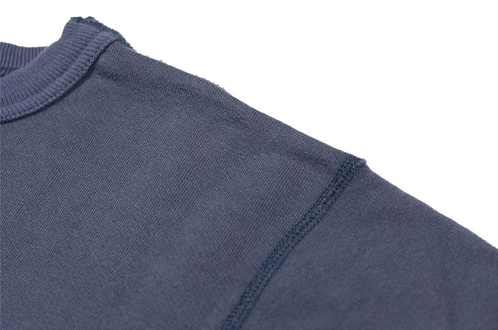Buzz Rickson Flatlock Seam Crewneck Sweater - Navy - Image 7