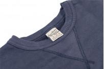 Buzz Rickson Flatlock Seam Crewneck Sweater - Navy - Image 8