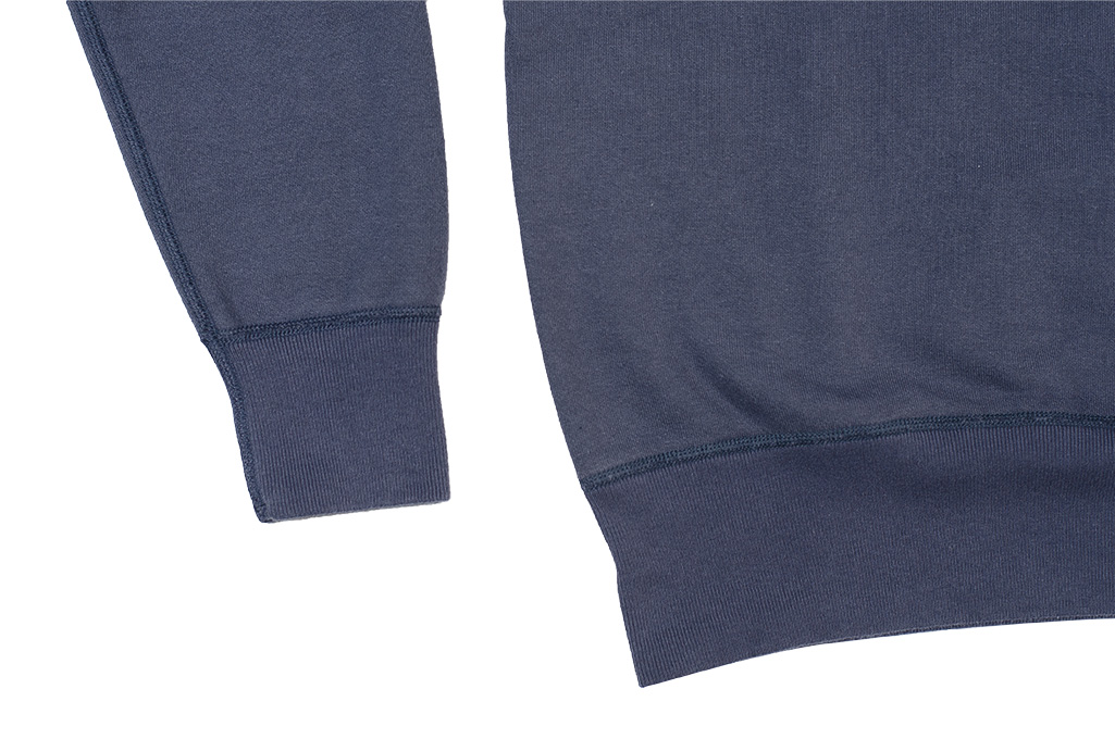 Buzz Rickson Flatlock Seam Crewneck Sweater - Navy - Image 9