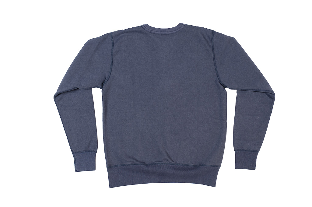 Buzz Rickson Flatlock Seam Crewneck Sweater - Navy - Image 11