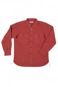 Seuvas 79A Canvas Workshirt - Natty Red Wine - Image 4