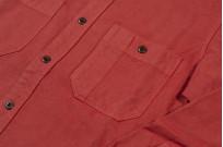 Seuvas 79A Canvas Workshirt - Natty Red Wine - Image 6