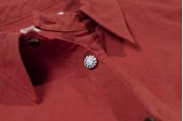 Seuvas 79A Canvas Workshirt - Natty Red Wine - Image 7