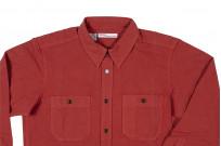 Seuvas 79A Canvas Workshirt - Natty Red Wine - Image 8