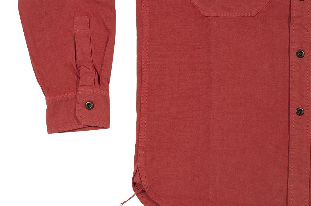 Seuvas 79A Canvas Workshirt - Natty Red Wine - Image 10
