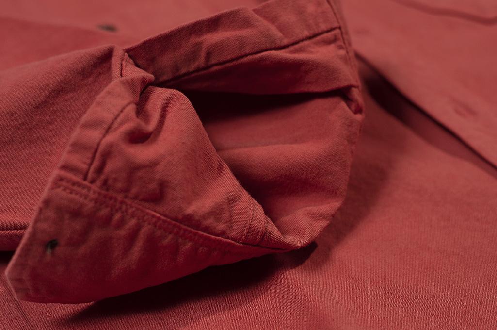 Seuvas 79A Canvas Workshirt - Natty Red Wine - Image 11