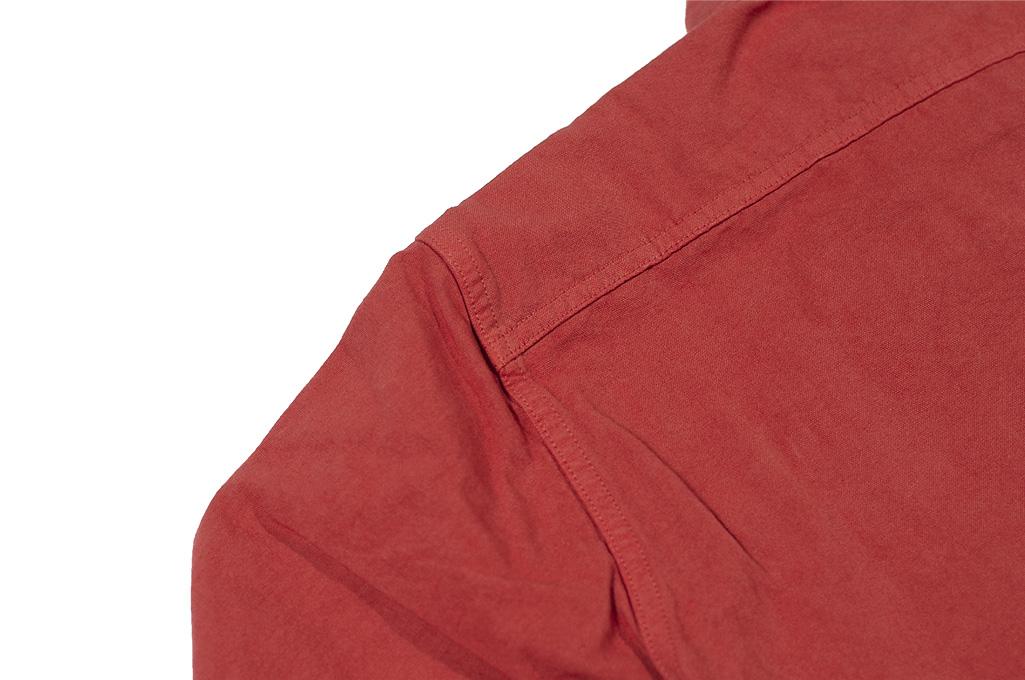 Seuvas 79A Canvas Workshirt - Natty Red Wine - Image 14