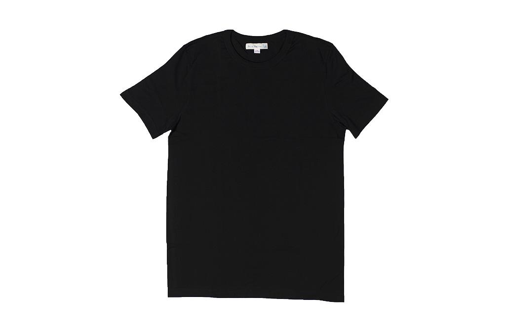 Merz B. Schwanen Loopwheeled T-Shirt - Sea Island Cotton Black - Image 3
