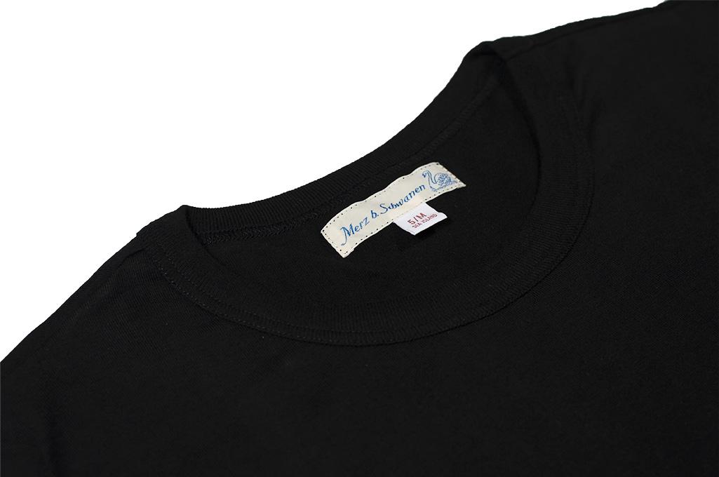 Merz B. Schwanen Loopwheeled T-Shirt - Sea Island Cotton Black - Image 6