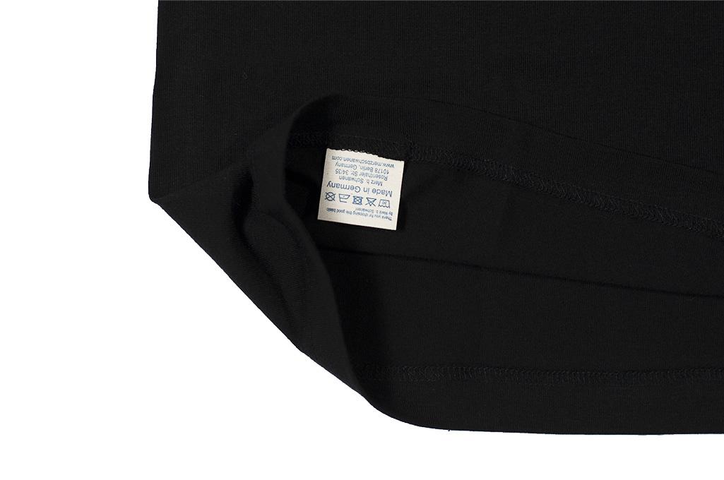 Merz B. Schwanen Loopwheeled T-Shirt - Sea Island Cotton Black - Image 7