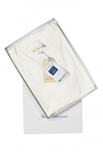 Merz B. Schwanen Loopwheeled T-Shirt - Sea Island Cotton White - Image 0