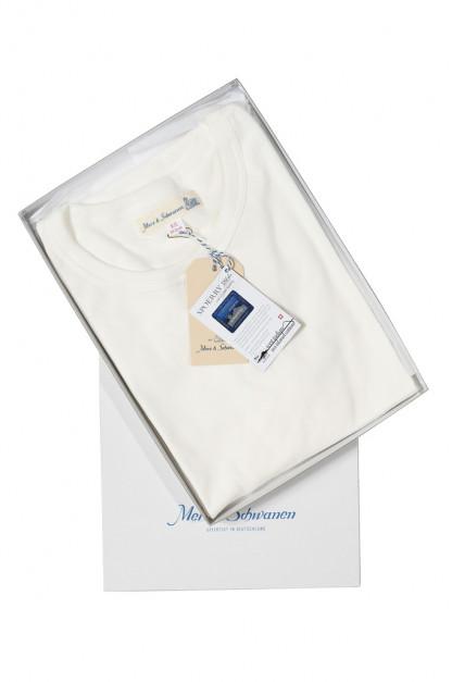 Merz B. Schwanen Loopwheeled T-Shirt - Sea Island Cotton White