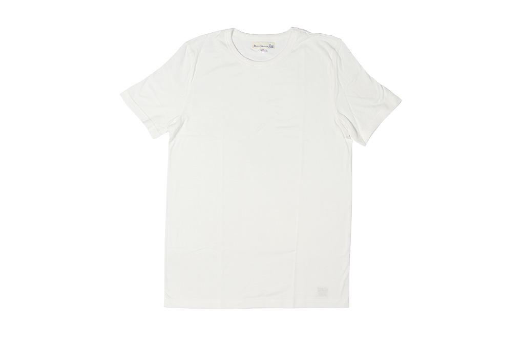Merz B. Schwanen Loopwheeled T-Shirt - Sea Island Cotton White - Image 3