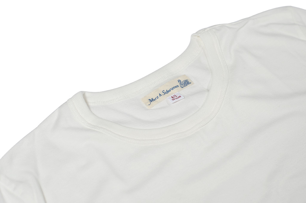 Merz B. Schwanen Loopwheeled T-Shirt - Sea Island Cotton White - Image 6