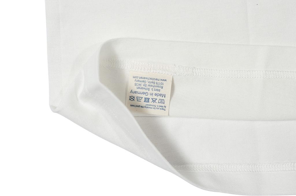 Merz B. Schwanen Loopwheeled T-Shirt - Sea Island Cotton White - Image 8