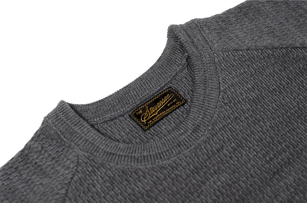 Stevenson Absolutely Amazing Merino Wool Thermal Shirt - Dark Gray - Image 5