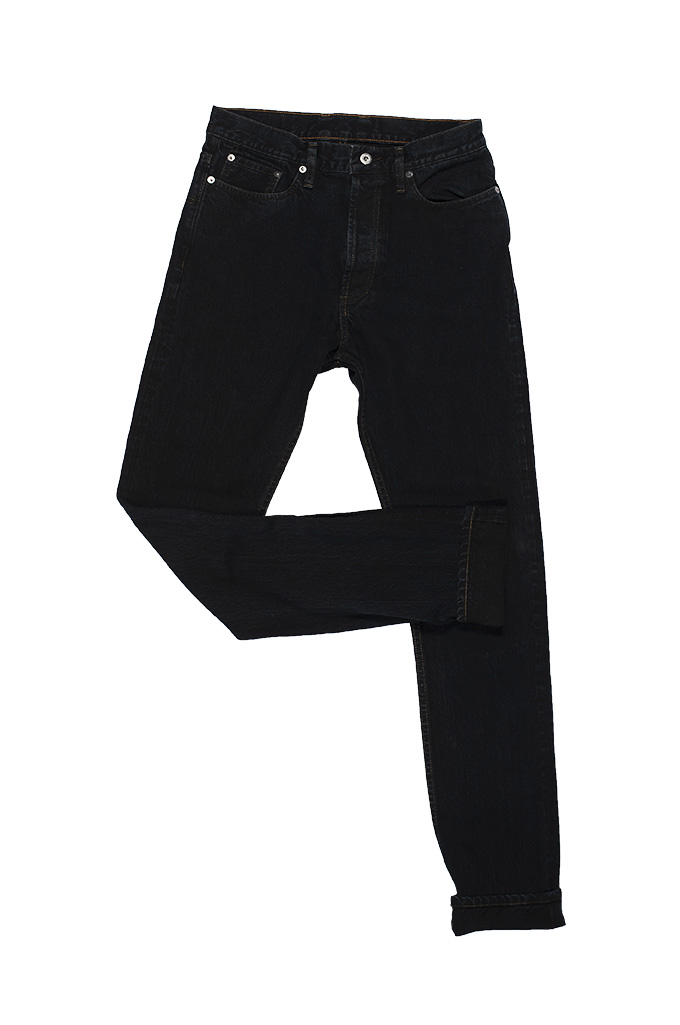 3sixteen Suffused Collection / OD-100x Overdyed Narrow Tapered Jeans - Aphotic Anthracite - Image 9