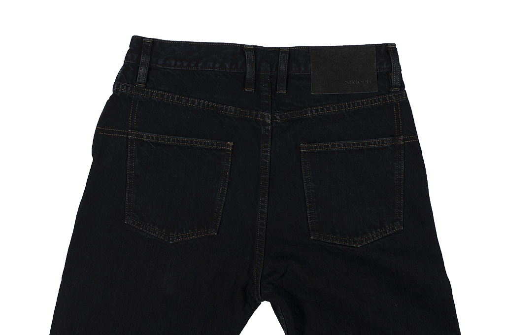 3sixteen Suffused Collection / OD-100x Overdyed Narrow Tapered Jeans - Aphotic Anthracite - Image 11