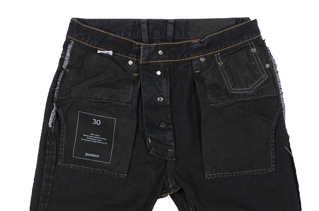 3sixteen Suffused Collection / OD-100x Overdyed Narrow Tapered Jeans - Aphotic Anthracite - Image 16