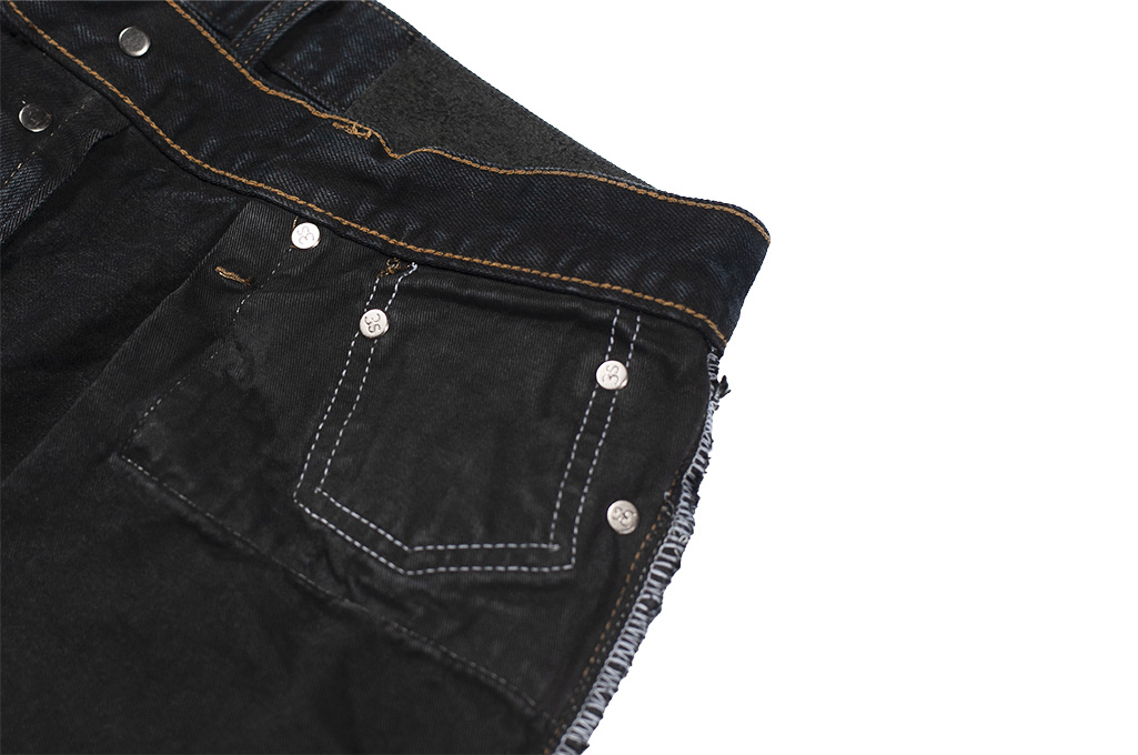 3sixteen Suffused Collection / OD-100x Overdyed Narrow Tapered Jeans - Aphotic Anthracite - Image 18