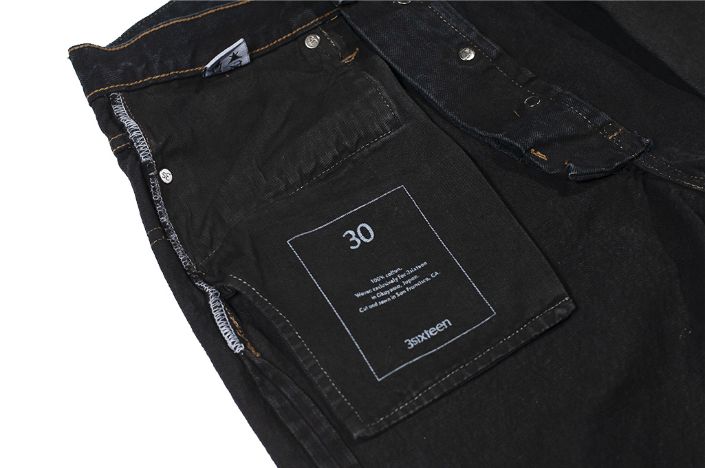 3sixteen Suffused Collection / OD-100x Overdyed Narrow Tapered Jeans - Aphotic Anthracite - Image 19
