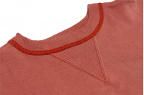 Warehouse Loopwheeled Set-In Freedom Crewneck Sweater - Salmon - Image 5