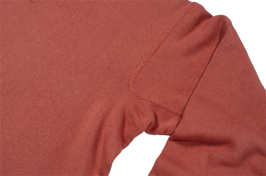 Warehouse Loopwheeled Set-In Freedom Crewneck Sweater - Salmon - Image 6