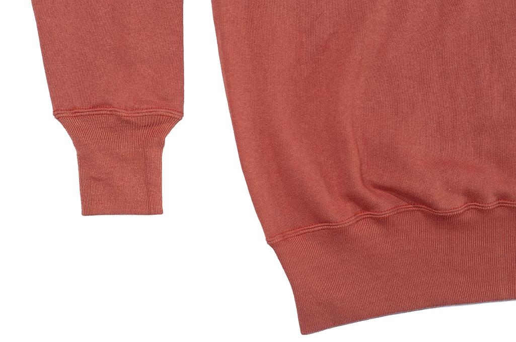 Warehouse Loopwheeled Set-In Freedom Crewneck Sweater - Salmon - Image 7