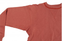 Warehouse Loopwheeled Set-In Freedom Crewneck Sweater - Salmon - Image 9