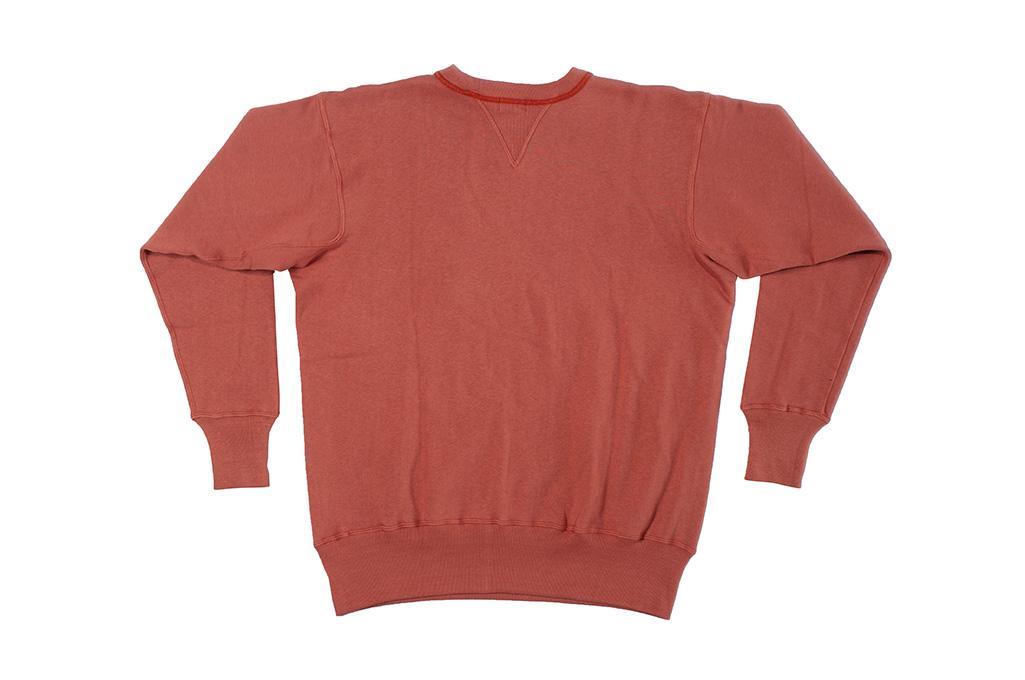 Warehouse Loopwheeled Set-In Freedom Crewneck Sweater - Salmon - Image 10