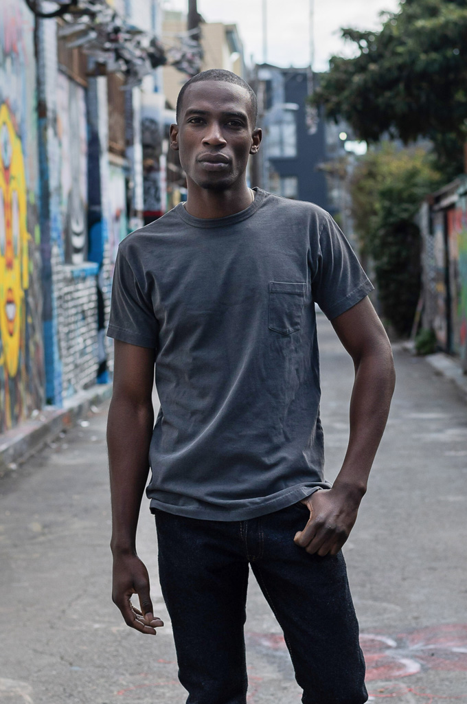 3sixteen Suffused Collection / Overdyed Pocket T-Shirt - Aphotic Anthracite - Image 0
