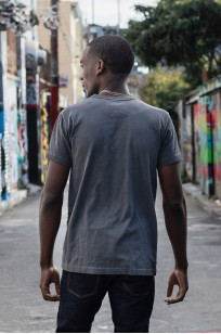 3sixteen Suffused Collection / Overdyed Pocket T-Shirt - Aphotic Anthracite - Image 3