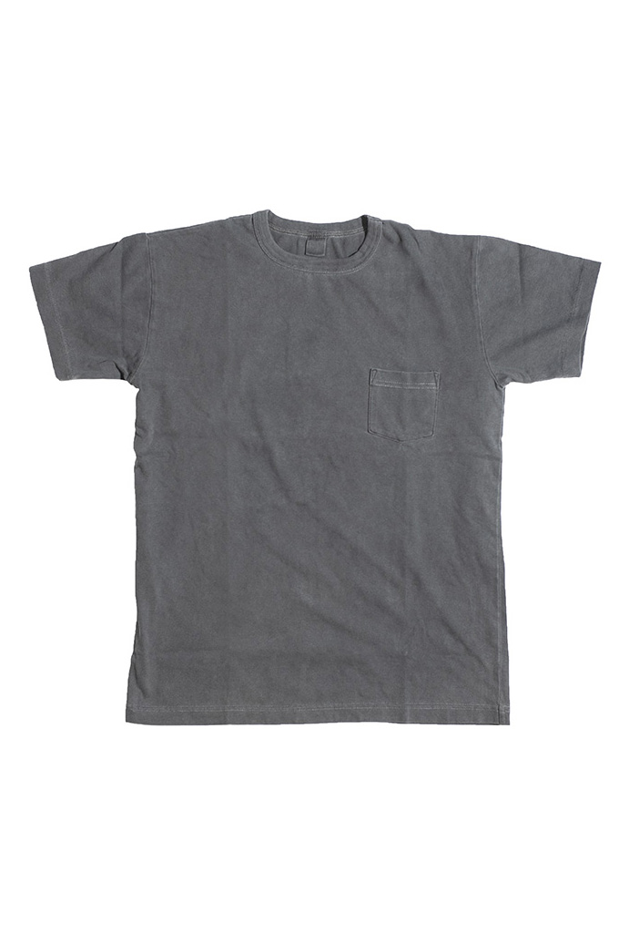 3sixteen Suffused Collection / Overdyed Pocket T-Shirt - Aphotic Anthracite - Image 4