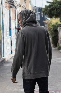 3sixteen Suffused Collection / Overdyed French Terry Pull-Over Hoodie - Aphotic Anthracite - Image 4