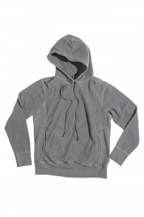 3sixteen Suffused Collection / Overdyed French Terry Pull-Over Hoodie - Aphotic Anthracite - Image 5